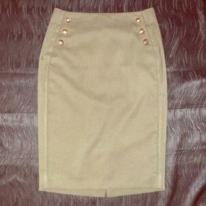 THE LIMITED Army green pencil skirt